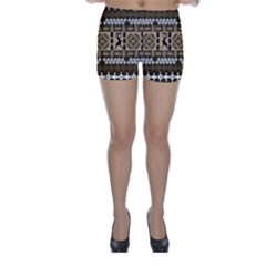 African Vector Pattern Skinny Shorts by Zeze