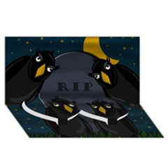 Halloween   Rip Twin Heart Bottom 3d Greeting Card (8x4) by Valentinaart