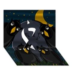 Halloween   Rip Ribbon 3d Greeting Card (7x5) by Valentinaart