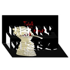 Halloween Mummy   Merry Xmas 3d Greeting Card (8x4) by Valentinaart