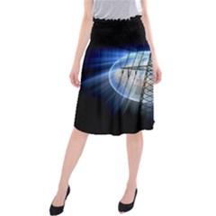 Energy Revolution Current Midi Beach Skirt by Zeze
