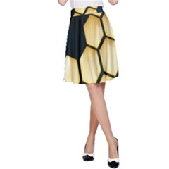 Honeycomb Yellow Rendering Ultra A Line Skirt by AnjaniArt