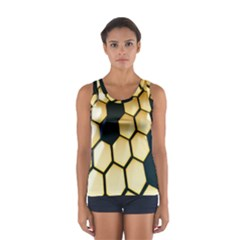 Honeycomb Yellow Rendering Ultra Women s Sport Tank Top  by AnjaniArt