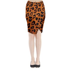 Leopard Patterns Midi Wrap Pencil Skirt