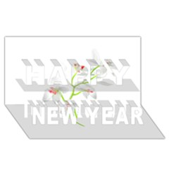 Isolated Orquideas Blossom Happy New Year 3d Greeting Card (8x4) by dflcprints