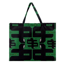Show Me The Money Zipper Large Tote Bag by MRTACPANS
