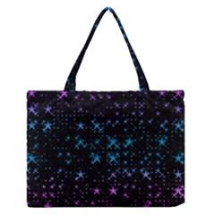 Stars Pattern Medium Zipper Tote Bag