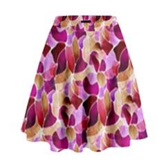 Fuchsia Flowered High Waist Skirt by KirstenStar