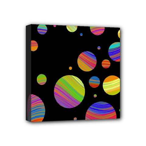 Colorful Galaxy Mini Canvas 4  X 4  by Valentinaart