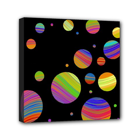 Colorful Galaxy Mini Canvas 6  X 6  by Valentinaart