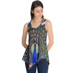 The Peacock Pattern Sleeveless Tunic by Zeze