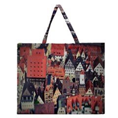 Tilt Shift Of Urban View During Daytime Zipper Large Tote Bag by Zeze
