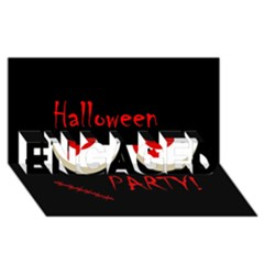 Halloween Party   Red Eyes Monster Engaged 3d Greeting Card (8x4)
