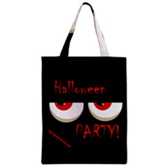 Halloween Party   Red Eyes Monster Zipper Classic Tote Bag by Valentinaart