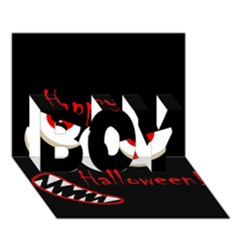 Happy Halloween   Red Eyes Monster Boy 3d Greeting Card (7x5) by Valentinaart