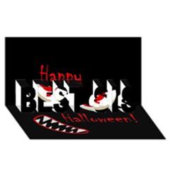 Happy Halloween   Red Eyes Monster Best Sis 3d Greeting Card (8x4) by Valentinaart