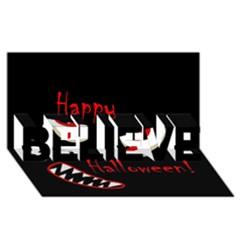 Happy Halloween   Red Eyes Monster Believe 3d Greeting Card (8x4) by Valentinaart