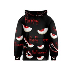 Happy Halloween   Red Eyes Monster Kids  Pullover Hoodie by Valentinaart