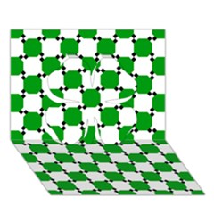 Optical Illusion Clover 3D Greeting Card (7x5) by AnjaniArt