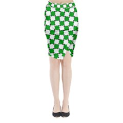 Optical Illusion Midi Wrap Pencil Skirt