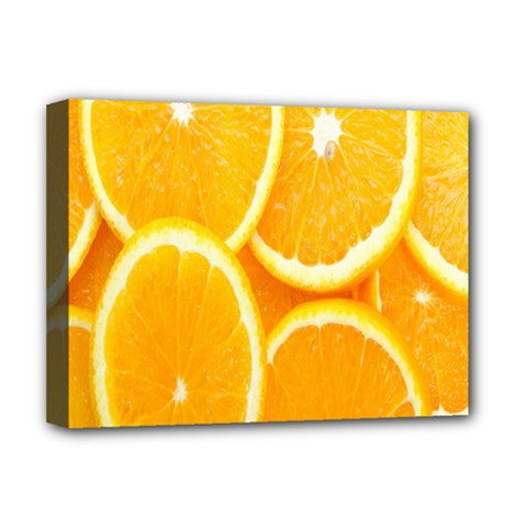 Orange Fruit Deluxe Canvas 16  x 12   by AnjaniArt