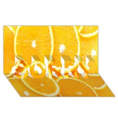 Orange Fruit Sorry 3d Greeting Card (8x4) by AnjaniArt