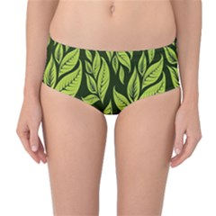 Palm Coconut Tree Mid Waist Bikini Bottoms by AnjaniArt
