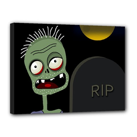 Halloween Zombie On The Cemetery Canvas 16  X 12  by Valentinaart