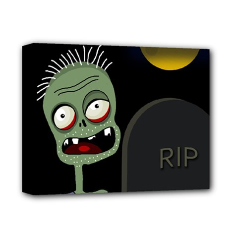 Halloween Zombie On The Cemetery Deluxe Canvas 14  X 11  by Valentinaart