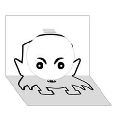 Petit Vampire Cartoon Illustration Circle 3d Greeting Card (7x5) by dflcprints