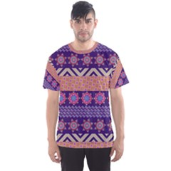 Colorful Winter Pattern Men s Sport Mesh Tee by DanaeStudio