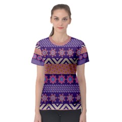 Colorful Winter Pattern Women s Sport Mesh Tee by DanaeStudio