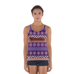 Colorful Winter Pattern Women s Sport Tank Top