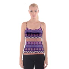 Colorful Winter Pattern Spaghetti Strap Top by DanaeStudio
