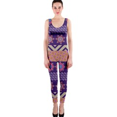 Colorful Winter Pattern Onepiece Catsuit by DanaeStudio