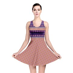 Colorful Winter Pattern Reversible Skater Dress by DanaeStudio