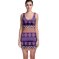 Colorful Winter Pattern Bodycon Dress by DanaeStudio
