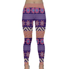 Colorful Winter Pattern Yoga Leggings  by DanaeStudio