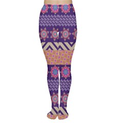 Colorful Winter Pattern Tights by DanaeStudio