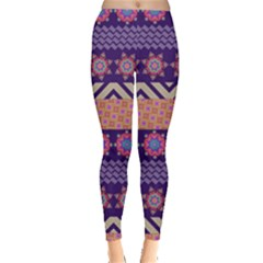 Colorful Winter Pattern Leggings  by DanaeStudio
