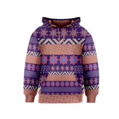 Colorful Winter Pattern Kids  Pullover Hoodie