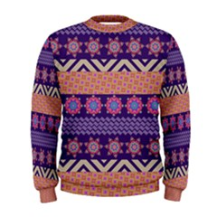 Colorful Winter Pattern Men s Sweatshirt by DanaeStudio