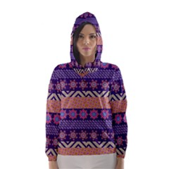 Colorful Winter Pattern Hooded Wind Breaker (women)