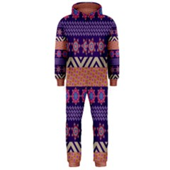 Colorful Winter Pattern Hooded Jumpsuit (men)