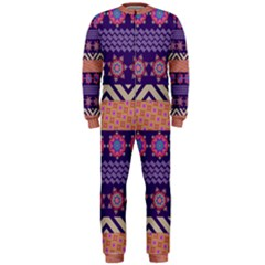 Colorful Winter Pattern Onepiece Jumpsuit (men)