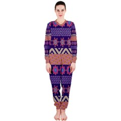 Colorful Winter Pattern Onepiece Jumpsuit (ladies)