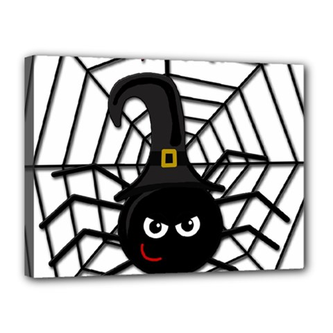 Halloween Cute Spider Canvas 16  X 12  by Valentinaart