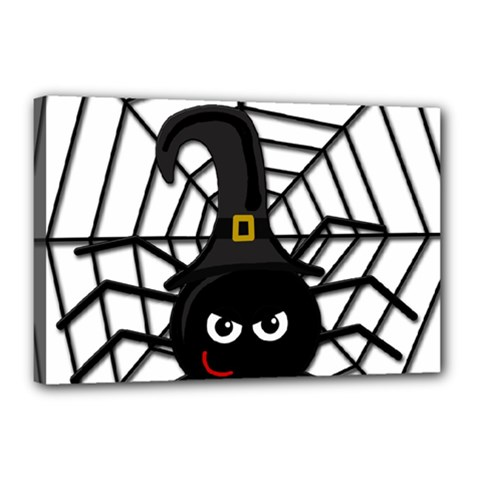 Halloween Cute Spider Canvas 18  X 12  by Valentinaart