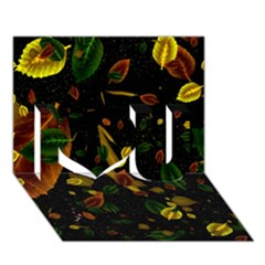 Autumn 03 I Love You 3d Greeting Card (7x5) by MoreColorsinLife