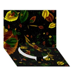 Autumn 03 Circle Bottom 3D Greeting Card (7x5) by MoreColorsinLife